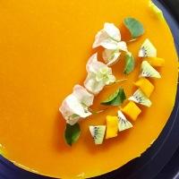 Mousse-gelée de mango...y bugambilias
